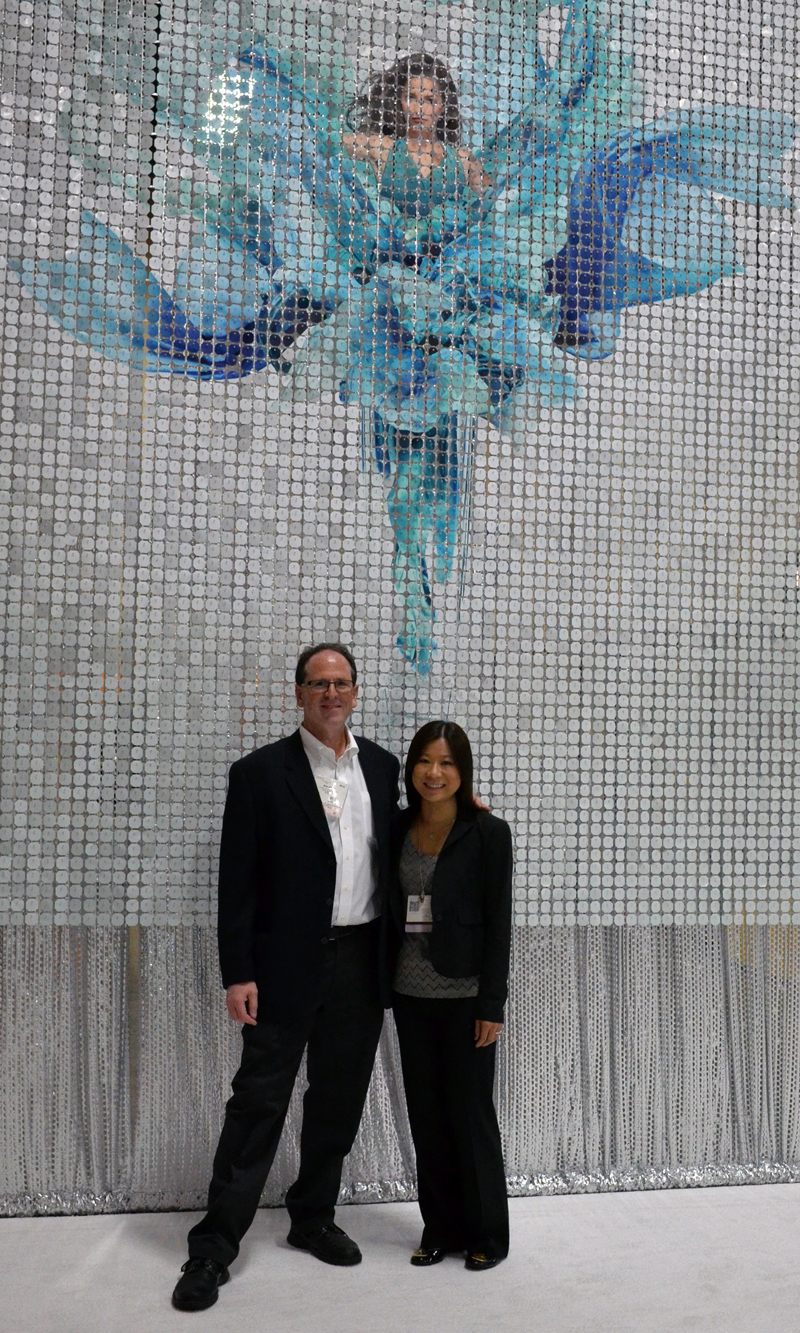 Eric Engel and Kim Sim at Cosmoprof 2014