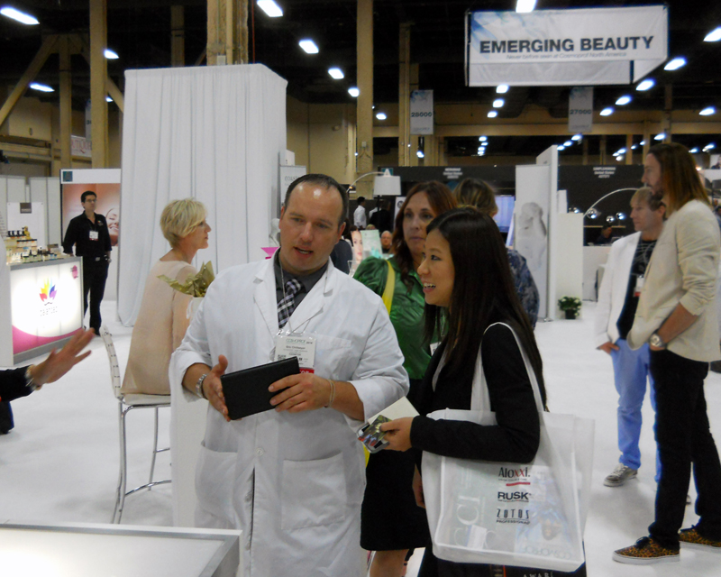 Eric Chillseyzn (of Glycelene) and Kim Sim at Cosmoprof 2014